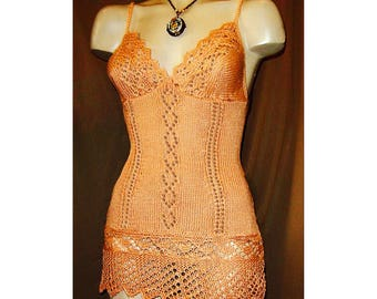 Lucy Knitted Chemise Nightie pattern