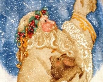 Christmas Door Banner, Father Christmas Door Decoration Pattern, Santa Claus, Daisy Kingdom