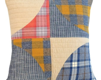 "Modern Decorative Pillow in Linen/Flannel/Denim ""POP 20"""