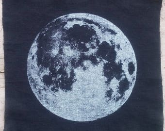 Full Moon Screenprinted Patch