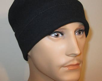Men's Roll Up Knit  Chemo Cancer cj hats  Leisure Soft Knit Cotton Stretch Available in 5 colors