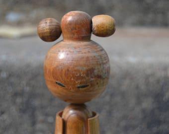 Large Vintage Japanese Kokeshi Doll Wooden Doll