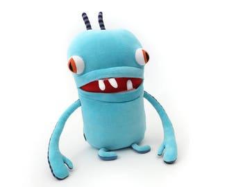 "Monster Plush Stuffed ""Rain"" Toothy Pocket Cotton Monster"