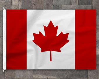 100% Cotton, Stitched Design, Flag of Canada, Made in USA