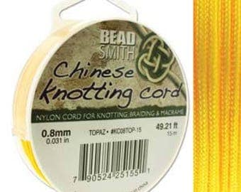 Topaz Chinese Knotting Cord (.8mm/.031in) 15m/16.4yds