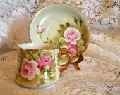 Vintage Lefton China Hand Painted Tea cup and Saucer Heritage Pattern 1960