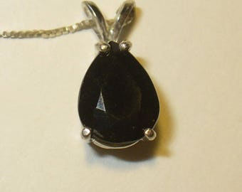 Tektite Pendant Necklace in Sterling Silver - Your Own 5 Carat Falling Star!