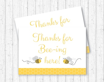 Bumble Bee Party Favor Tags Thank You Baby Shower Thanks For