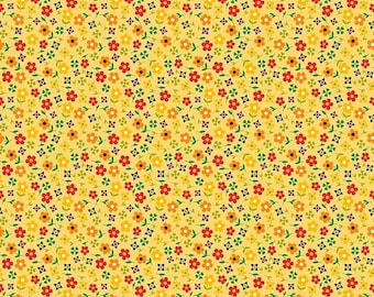 ON SALE Penny Rose Fabrics Gingham Girls By Amy Smart Blossom Yellow