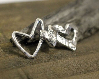 Hearts Link Sterling Silver Artisan 001/CL4001
