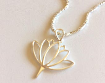 Lotus Charm-Sterling Silver Charms