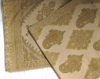 table runner. double sided table runner . pottery barn . made in India .  paisley table runner . Indian table runner