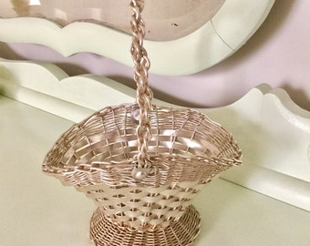 Small Silver Easter Basket