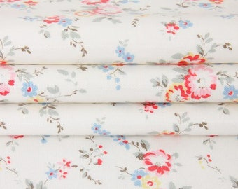 3012 - Cath Kidston Bleached Flowers Oilcloth Waterproof Fabric - 28 Inch (Width) x 17 Inch (Length)