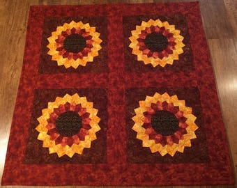 NEW Sunflower Appliqued Quilt/Throw