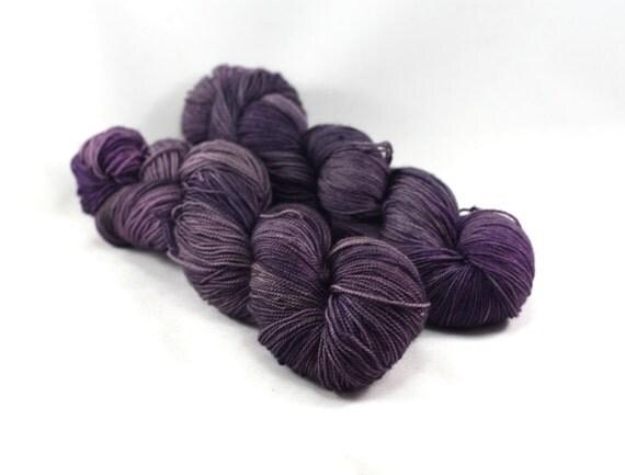 Witching Hour - Postcard - Semi Solid Sock Yarn - Tonal Purple Yarn