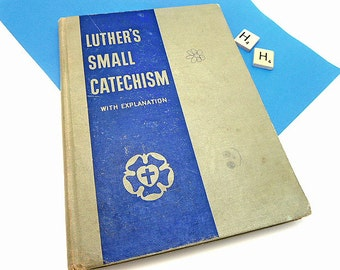 Vintage Book Luther's Small Catechism     WM101