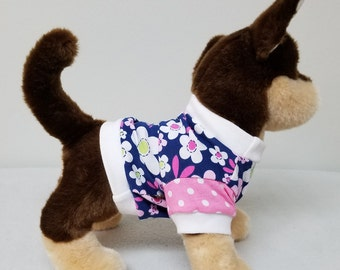 Dog Clothes Sweet Spring Flower Tshirt, Chihuahua, Yorkie