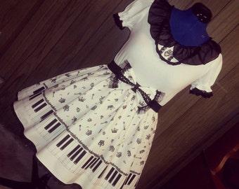 Royal Piano gothic lolita dress