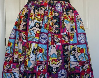 Wonder Woman Cotton Novelty Skirt