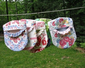 PDF Sewing e-Pattern - Ruffled Clothespin Bag - Instant Download