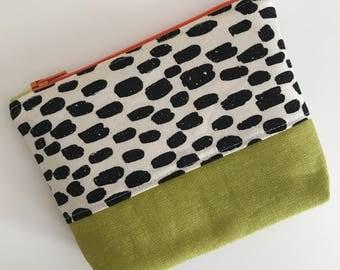 Zippered Pouch, Zipper Bag, Modern Zipper Bag