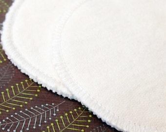 "Extra Large 5"" Bamboo Reusable Nursing Pad Set in super soft bamboo/organic cotton fleece"