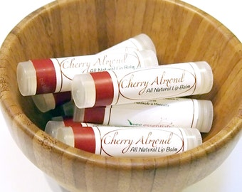 Cherry Almond All Natural lip balm for chapped lips