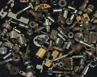 Destash Pocket Watch Parts Assemblage Industrial Altered Art Steampunk Charms BG 10