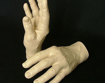 Male Hands Life Cast Open Finger Mannequin Display