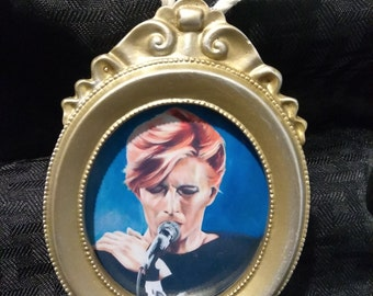 "David Bowie ""Sigma Studios"" by Mel Fiorentino Christmas Ornament"