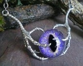 Gothic Steampunk Raven Claw With Purple Eye
