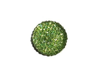 20mm round and sparkly cabochon in Peridot Green 1 piece