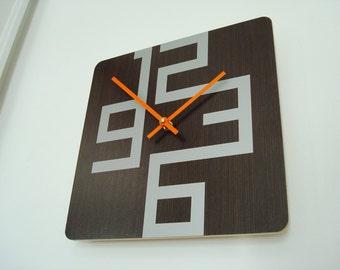 10in Cornell Bamboo Modern Wall Clock
