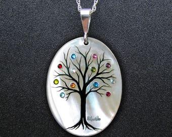 Family Tree Necklace Original Design (18 stone maximum)