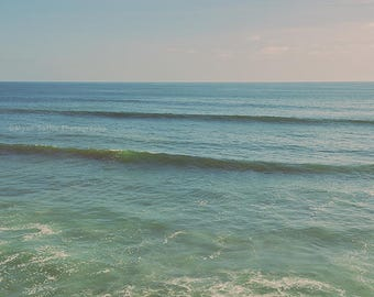 ocean wall art, beach print, waves photograph, San Diego art, California photography, blue baby nursery decor, yoga studio art, surfer decor