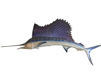 1960s Sailfish Mount, Retro Mid Century Decor, Man Cave Style, Rustic Cabin Wall Hanging