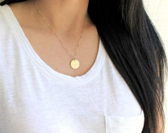 Personalized Pendant Mothers Necklace, Personalized Necklace, Gold Necklace, Personalized Jewelry, Gift for Mom, Customized Date or Name