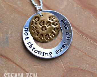 "Hamilton ""Not Throwing Away My Shot"" Necklace - Hamilton Fan - Hamilfan Gift"