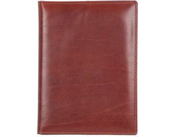VINTAGE Brown Leather NOTEBOOK COVER Agenda