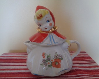 Authentic Hull Little Red Riding Hood Teapot with Poppy Decal
