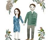 Custom Illustration - Gift, Anniversary, Birthday