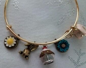 TEA with MAD HATTER bangle bracelet
