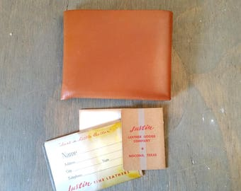 Vintage Justin Calf Skin Leather Wallet Never Used