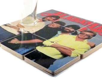 Alabama recycled The Touch album cover wood coasters