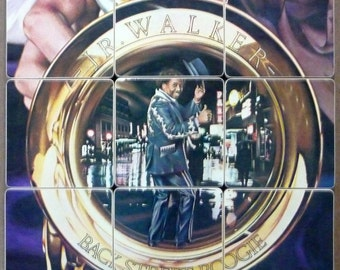 J. R. Walker recycled Back Street Boogie album cover coasters with wacky record bowl