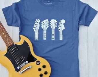 Guitar Headstocks T-shirt - guitar shirt - gifts for guitar players - guitar T shirt - gifts for him - music tees - mens shirt - graphic tee