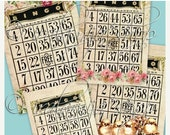 SALE BIG BINGO CARdS Collage Digital Images -printable download file-