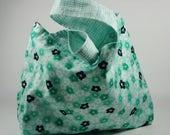 Market Bag Style Handeled Knitting Project Bag,Medium Project Bag, Sock or Shawl Knitting Project Bag