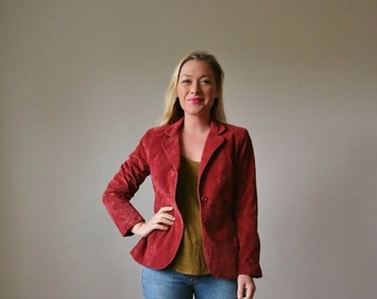 ON SALE 1970s Autumn Crush Blazer >>> Size Extra small to Small